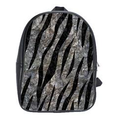 Skin3 Black Marble & Gray Stone (r) School Bag (xl) by trendistuff