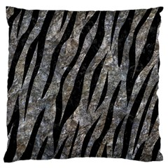 Skin3 Black Marble & Gray Stone (r) Large Flano Cushion Case (one Side) by trendistuff