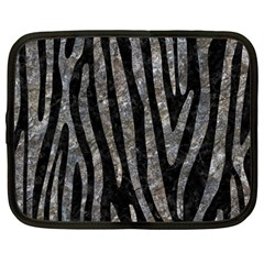 Skin4 Black Marble & Gray Stone (r) Netbook Case (large) by trendistuff