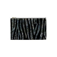 Skin4 Black Marble & Gray Stone (r) Cosmetic Bag (small)  by trendistuff