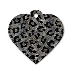 Skin5 Black Marble & Gray Stone Dog Tag Heart (two Sides) by trendistuff