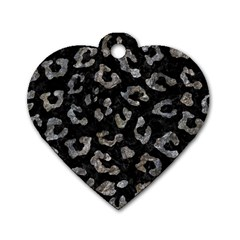 Skin5 Black Marble & Gray Stone (r) Dog Tag Heart (two Sides) by trendistuff
