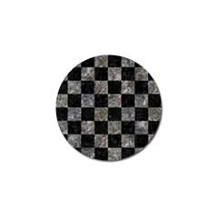 Square1 Black Marble & Gray Stone Golf Ball Marker by trendistuff