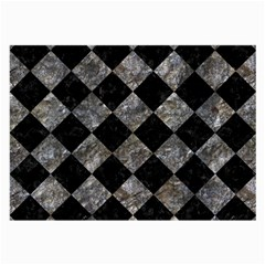 Square2 Black Marble & Gray Stone Large Glasses Cloth (2 Side) by trendistuff