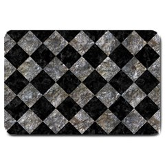 Square2 Black Marble & Gray Stone Large Doormat