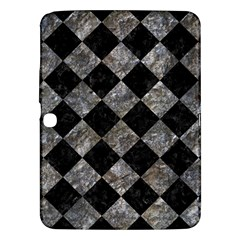 Square2 Black Marble & Gray Stone Samsung Galaxy Tab 3 (10 1 ) P5200 Hardshell Case  by trendistuff