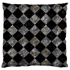 Square2 Black Marble & Gray Stone Large Flano Cushion Case (two Sides) by trendistuff