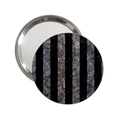Stripes1 Black Marble & Gray Stone 2 25  Handbag Mirrors by trendistuff