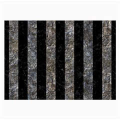 Stripes1 Black Marble & Gray Stone Large Glasses Cloth by trendistuff