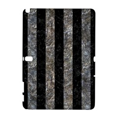 Stripes1 Black Marble & Gray Stone Galaxy Note 1 by trendistuff
