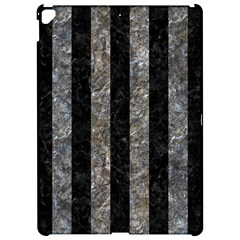 Stripes1 Black Marble & Gray Stone Apple Ipad Pro 12 9   Hardshell Case by trendistuff