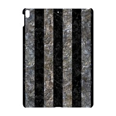 Stripes1 Black Marble & Gray Stone Apple Ipad Pro 10 5   Hardshell Case by trendistuff