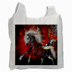 Awesome Steampunk Horse With Wings Recycle Bag (two Side)  by FantasyWorld7