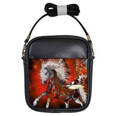 Awesome Steampunk Horse With Wings Girls Sling Bags by FantasyWorld7
