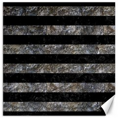 Stripes2 Black Marble & Gray Stone Canvas 16  X 16   by trendistuff