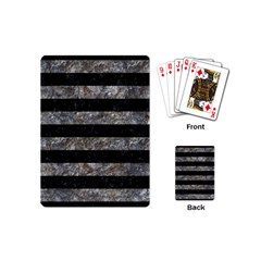 Stripes2 Black Marble & Gray Stone Playing Cards (mini)  by trendistuff