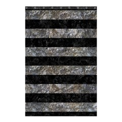 Stripes2 Black Marble & Gray Stone Shower Curtain 48  X 72  (small)  by trendistuff
