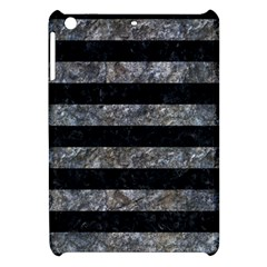 Stripes2 Black Marble & Gray Stone Apple Ipad Mini Hardshell Case by trendistuff