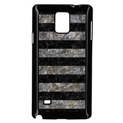 Stripes2 Black Marble & Gray Stone Samsung Galaxy Note 4 Case (black) by trendistuff