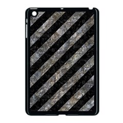 Stripes3 Black Marble & Gray Stone Apple Ipad Mini Case (black) by trendistuff