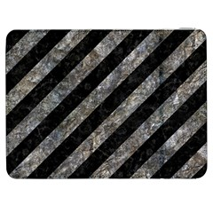 Stripes3 Black Marble & Gray Stone Samsung Galaxy Tab 7  P1000 Flip Case by trendistuff
