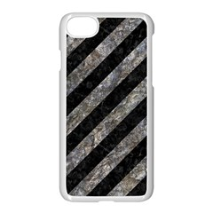 Stripes3 Black Marble & Gray Stone Apple Iphone 7 Seamless Case (white) by trendistuff