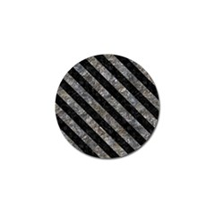Stripes3 Black Marble & Gray Stone (r) Golf Ball Marker (10 Pack) by trendistuff