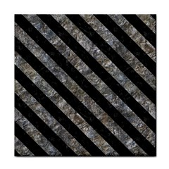 Stripes3 Black Marble & Gray Stone (r) Face Towel by trendistuff