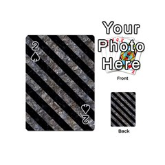 Stripes3 Black Marble & Gray Stone (r) Playing Cards 54 (mini)  by trendistuff