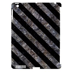 Stripes3 Black Marble & Gray Stone (r) Apple Ipad 3/4 Hardshell Case (compatible With Smart Cover) by trendistuff