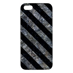Stripes3 Black Marble & Gray Stone (r) Apple Iphone 5 Premium Hardshell Case by trendistuff