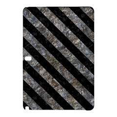 Stripes3 Black Marble & Gray Stone (r) Samsung Galaxy Tab Pro 12 2 Hardshell Case by trendistuff