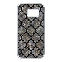 Tile1 Black Marble & Gray Stone (r) Samsung Galaxy S7 White Seamless Case by trendistuff