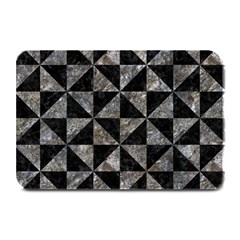 Triangle1 Black Marble & Gray Stone Plate Mats by trendistuff