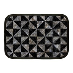 Triangle1 Black Marble & Gray Stone Netbook Case (medium)  by trendistuff