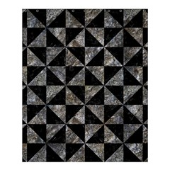 Triangle1 Black Marble & Gray Stone Shower Curtain 60  X 72  (medium)  by trendistuff