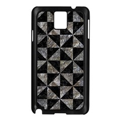 Triangle1 Black Marble & Gray Stone Samsung Galaxy Note 3 N9005 Case (black) by trendistuff