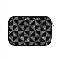 Triangle1 Black Marble & Gray Stone Apple Macbook Pro 15  Zipper Case by trendistuff