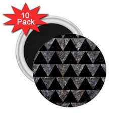 Triangle2 Black Marble & Gray Stone 2 25  Magnets (10 Pack)  by trendistuff