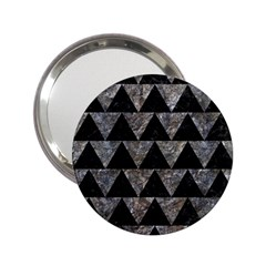 Triangle2 Black Marble & Gray Stone 2 25  Handbag Mirrors by trendistuff