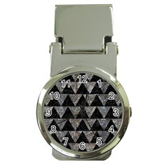 Triangle2 Black Marble & Gray Stone Money Clip Watches by trendistuff