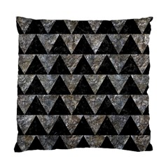 Triangle2 Black Marble & Gray Stone Standard Cushion Case (two Sides) by trendistuff