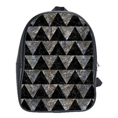 Triangle2 Black Marble & Gray Stone School Bag (large) by trendistuff