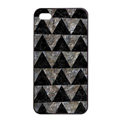 Triangle2 Black Marble & Gray Stone Apple Iphone 4/4s Seamless Case (black)