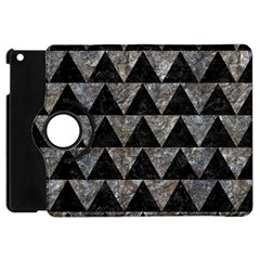 Triangle2 Black Marble & Gray Stone Apple Ipad Mini Flip 360 Case by trendistuff