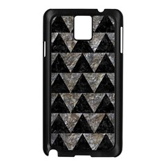 Triangle2 Black Marble & Gray Stone Samsung Galaxy Note 3 N9005 Case (black) by trendistuff