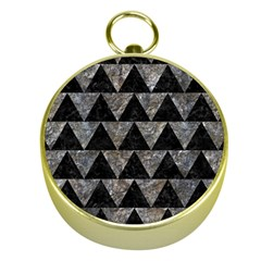 Triangle2 Black Marble & Gray Stone Gold Compasses by trendistuff
