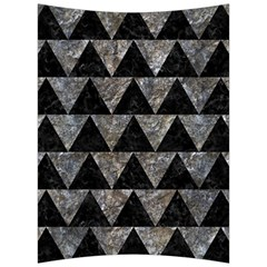 Triangle2 Black Marble & Gray Stone Back Support Cushion by trendistuff