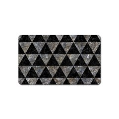 Triangle3 Black Marble & Gray Stone Magnet (name Card) by trendistuff