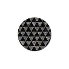 Triangle3 Black Marble & Gray Stone Golf Ball Marker by trendistuff